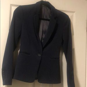 classic, fitted navy blue Express blazer